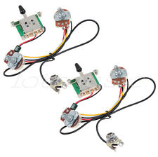2 sets Two Pickup Guitar Wiring Harness 3 Way Blade Switch 500K Pots