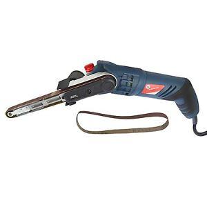 Power File Belt Sander / Finger Electric Sanding With 2 Belts 13mm x 457mm