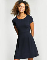 BRAVISSIMO 8-18 CRC Navy A-Lined Panelled Dress Work Casual Smart Evening (BR27)