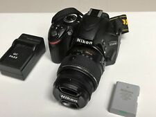 Nikon D3200 24.2MP Digital Camera Kit w/ DX VR II 18-55mm Lens Shutter 3444