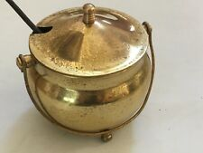 Vintage Brass Fire Starter Smudge Pot With Pumice Wand