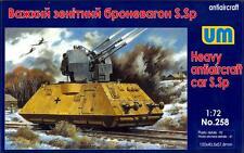 UM-MT Models 1/72 HEAVY ANTIAIRCRAFT CAR S.Sp for German Armored Train