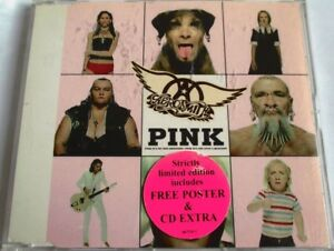 """AEROSMITH - CD SINGLE """"PINK"""" - RARE LIMITED EDITION INCLUDES FREE POSTER"""