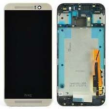 Genuine HTC One M9 LCD Screen Touch Digitiser Frame - Silver 80H01910-01