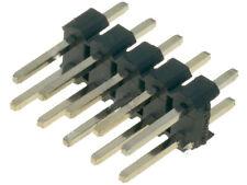 25 Stück Pinheader Stiftleiste Raster 2,54mm zweireihig 10-polig, vergoldet