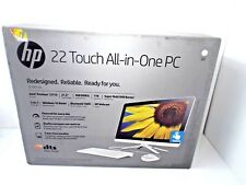 """BRAND NEW HP 22-b013w Snow White All-in-One PC 21.5""""HD Touch Display,4GB RAM,1TB"""