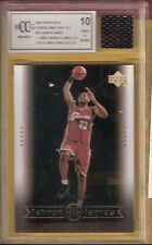 LEBRON JAMES WORN USA OLYMPIC JERSEY PIECE & ROOKIE card GRADED BCCG 10 CAVALIER
