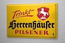 Blechschild Privatbrauerei Herrenhausen Herrenhäuser Biere 20x30 cm Bier Deko