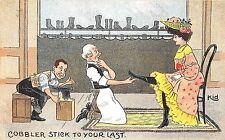 POSTCARD   COMIC   Cobbler  stick  to  your  last