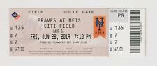 2019 June 28 New York Mets Vs Braves TICKET Pete Alonso & Austin Riley Home Run