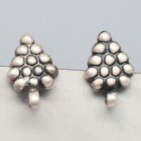 925 Sterling Plain Silver Earrings 2.97 gms Earrings Jewelry CCI