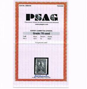 AFFORDABLE GENUINE SCOTT #PR11 USED PSAG CERT 1875 NEWPAPER & PERIODICALS STAMP