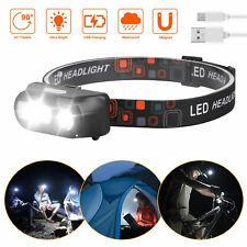 LED Headlamp Flashlight Head Torch Light 6 Mode Adjustable Headband Lamp COB Led