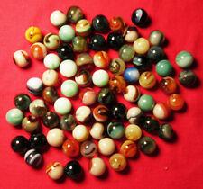 """75 JABO PEEWEE Swirl Marbles. 1/2"""" Beauties!!"""