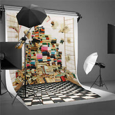 5x7ft Book Scenery Vinyl Wall Floor Photography Studio Prop Backdrop  UK