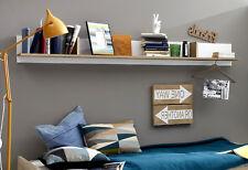 Wandregal Wandboard Bücherregal Regal weiß und Sonoma Eiche hell 200 cm Canaria