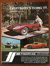 Vintage 1968 Original Print Ad FIREFAB Personalized Car Body Kit