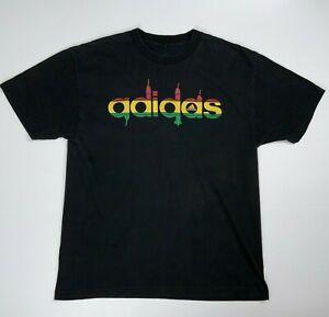 Adidas Ethiopia Addis Ababa Speaker Shirt Adult Large Black Red Yellow Men