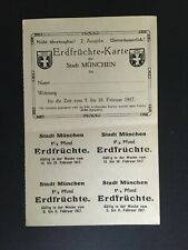 WW1 GERMANY. MUNICH FOOD STAMPS. 5th - 18th FEBUARY -:-  VERY NICE ORIGINAL.