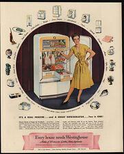 1947 WESTINGHOUSE Refrigerator & Freezer - Appliances - Pretty Woman  VINTAGE AD