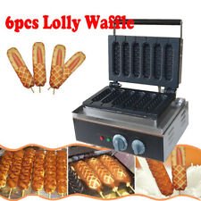 110V Electric French Hot Dog Lolly Waffle Maker Machine Baker Iron