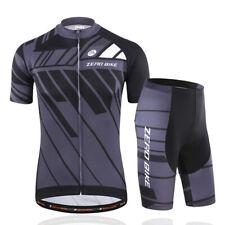 Men Bicycle Clothing Cycling Bike Jersey Cycling Pants Short Sleeve Set Black