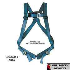 (4 PACK) TRACTEL A432 BLUE PHOENIX FALL PROTECTION SAFETY HARNESS W/ BACK D RING