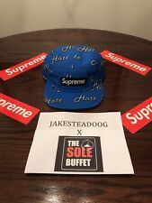 Supreme Hate 5 Panel Camp FW 13 Hat Cap Royal 17yrs of 100% AUTHENTICS