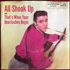Elvis Presley All Shook Up b/w That's When Your Heartaches Begin RCA 45 w/PS