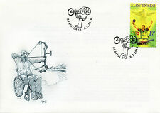 Slovakia 2016 FDC Paralympics Rio 2016 1v Set Cover Table Tennis Stamps