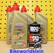 BMW R 1200 GS R RT RS  Öl + K&N Ölfilter 13-18 Castrol Power 1 Racing 5w40 LC