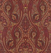 299112 Retro Paisley Red Feature Wallpaper Brigitte Von Boch Grace