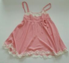 Victoria's Secret Camisole Top Pink with Ivory Lace XS