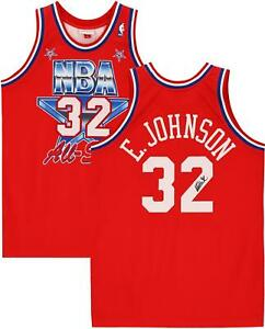 Magic Johnson LA Lakers Signed Red M&N 1981 All-Star Game Authentic Jersey