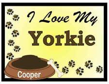 YORKIE PERSONALIZED I Love My Yorkie MAGNET