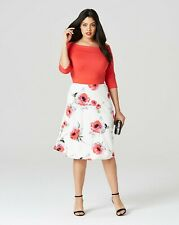Floral Red print prom dress SIMPLY BE uk size 22  bnwt