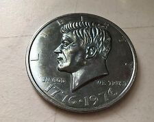 "1776-1976 John F Kennedy JFK Bi-Centennial US  Half Dollar Commemorative 3"" Coin"