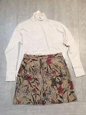 ZARA Women's Printed Skirt(Camel, Size:US M/EUR M)