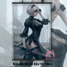Game NieR : Automata 2B YoRHa No. 2 Type 2 Anime Wall Scroll Poster Decor Gift