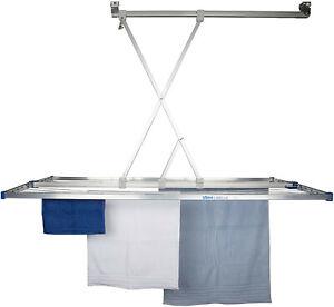 stewi Libelle XL Deckentrockner, Aluminium, Silber/Blau, 165 x 75 cm, verpackt
