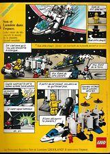 Publicité de Presse Lego Son et lumière dans l'espace Legoland  1986 french ad
