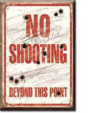 No Shooting Beyond This Point Miniature Sign Magnet 2 inch X 3 inch