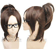 Hair Cap +Attack on Titan/Shingeki no Kyojin Hanji Zoe Dark Brown Cosplay Wig