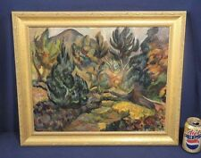 Vtg Antique Oil Painting on Canvas by Illya Zemsky Russian French Impressionist