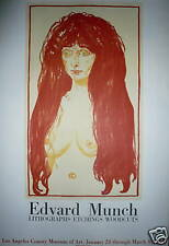 Edvard MUNCH Affiche en Lithographie Mourlot 1969 expressionnisme moderne le cri