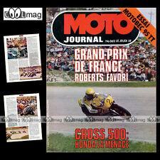 MOTO JOURNAL N°362 ANDRE MALHERBE MOTOBECANE 95 TT HONDA TL 200 DERBI 2002 GT 78