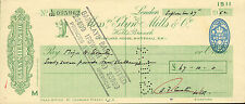 "glynn.mills & co "" holts branch whitehall london ""  september 24th 1952"