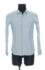 JIL SANDER Men's Blue striped long sleeved Shirt Size 38 - 15 * Made in Italy