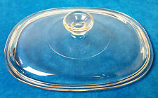 """Vintage Pyrex Corning #29 Clear Glass Lid F12C 9 5/8"""" x 7 1/2""""  Great Condition"""