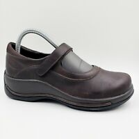 Dansko Courtney Brown Leather Mary Jane Comfort Clog Shoes 38 EU / 7.5-8 US
